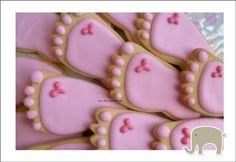 galletas en forma de pie
