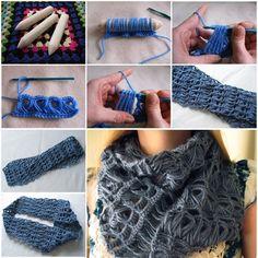 DIY Fashionable Crochet Scarf - http://www.ikeadecoratingideas.com/decoration-tips/diy-fashionable-crochet-scarf.html