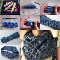 Infinity And Beyond Broomstick Lace Scarf. I haven't yet attempted broomstick! This makes me want to try!