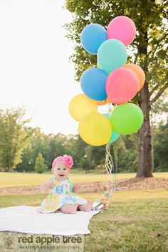 birthday girl! red apple tree photography: Twins First Year