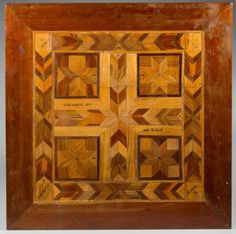 American Inlaid Game Board ~ First quarter 20th century ~  Provenance: Property of a Tennessee private collector.