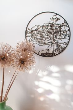 Papurino | home decor | wooden city map | Finnish design | interior design | Scandinavian design | Tampere