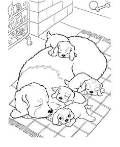 Dog and Puppy Coloring Pages Find awesome coloring pages at TheColoringBarn.com!