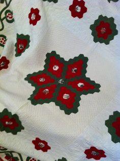 Centre of hexagon star quilt