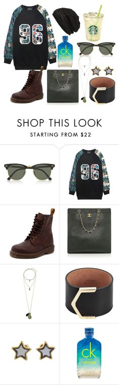 Mischievous by hannahjerao on Polyvore featuring Chicnova Fashion, Dr. Martens, Chanel, Fendi, Marc by Marc Jacobs, Miss Selfridge, King & Fifth Supply Co., Ray-Ban and Calvin Klein