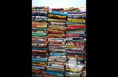 Vintage Kantha sari throws