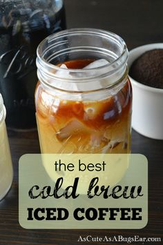 The BEST Cold Brew Iced Coffee Recipe is part of Cold Brewed Iced Coffee Recipe Nyt Cooking - The BEST cold brew iced coffee Recipe and easy DIY for the smoothest tasting coffee drink around! Perfect for when the temperatures start rising! Cold Brew Coffee Recipe, Cold Brew Iced Coffee, Iced Coffee Drinks, Coffee Menu, Coffee Tasting, Coffee Drinkers, Coffee Creamer, Coffee Barista, Coffee Cozy