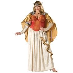 Viking Princess Women's Costume (Plus Sizes) - IN-5028 by Medieval Collectibles