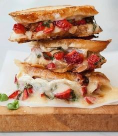 Plan to Eat - Strawberry Bruschetta Grilled Cheese - Kwatts25