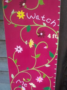 Watch Me Grow Flower Growth Chart by LizKidArt on Etsy