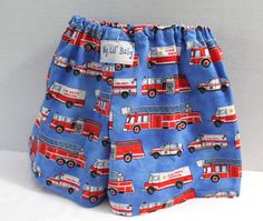 Baby Boy Firetruck Diaper Cover Boxer Shorts Fire by MyLilBaby, $11.99