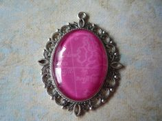 """Pink Map Pendant 2 1/2"""" by 2"""" by ForeverCreateDesigns on Etsy"""
