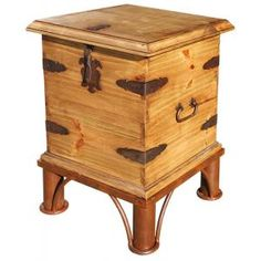 End Table Trunk w/Base  All Rustic Furniture = Buy 1 & Get 1 20% OFF through Wed., Oct. 9th.