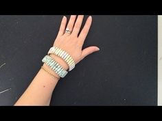 STACKED PAPER BEADS NECKLACE, HOW TO DIY, jewelry making - YouTube