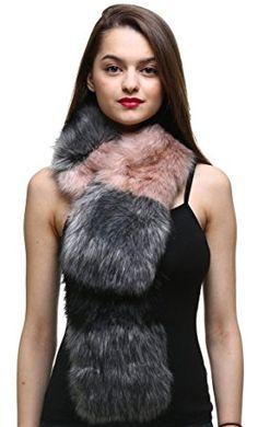 Vogueearth Faux Fur Women Winter Warmer Long Scarf Fashion Wrap Accessory  Review d8fd7f35b49a