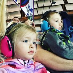 """Rattles your insides kind of loud..."" But their hearing is safe in Baby Banz protective Earmuffs! ( @denisemarie30 via @latermedia )"