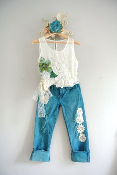 Christmas in July sale Women's jeans by TrueRebelClothing on Etsy, $57.60
