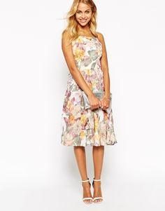 Enlarge Love Debutante Midi Dress in Large Scale Floral