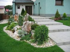 4 Outstanding Tips AND Tricks: Modern Garden Landscaping Inspiration easy garden landscaping how to grow. Front Garden Landscape, Front Yard Landscaping, Landscaping Design, Rock Garden Design, Alpine Garden, Easy Garden, Back Gardens, Dream Garden, Big Garden