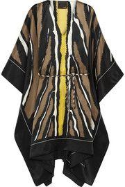FendiAnimal-print silk-satin kaftan