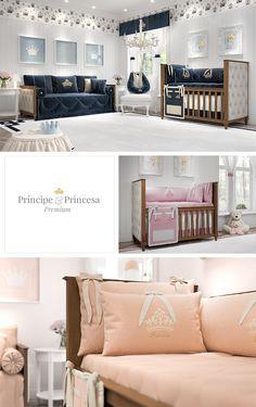 A coleção Príncipe e Princesa Premium é perfeita para o quarto de bebê de menino e de menina! Esses enxovais trazem nobreza e bom gosto em cada peça!