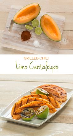 Grilled Chili Lime Cantaloupe – Sprinkle a little chili powder and lime juice atop of this summer fruit favorite for a sweet and savory treat. #FunFoodSun