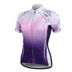 Santic Women Cycling Quick-dry Biking Short-sleeve Jersey Purple Size XL - http://ridingjerseys.com/santic-women-cycling-quick-dry-biking-short-sleeve-jersey-purple-size-xl/