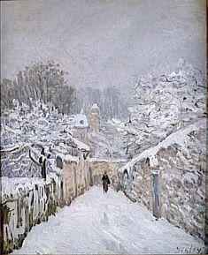 Alfred Sisley – Neige à Louveciennes, 1878, Musée d'Orsay