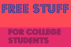 FREE Stuff for College Students | Closet of Free Samples | Get FREE Samples by Mail | Free Stuff
