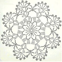 Here's a nice little crochet chart pattern from Sugar_LYS found on a…Pretty little doily; Photo pinned to my crochet boardMingky Tinky Tiger + the Biddle Diddle Dee: Photo Crochet Circles, Crochet Motifs, Crochet Blocks, Crochet Diagram, Crochet Round, Crochet Chart, Crochet Squares, Thread Crochet, Crochet Granny