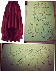28 Ideas for skirt fashion couture sewing patterns Fashion Sewing, Diy Fashion, Ideias Fashion, Skirt Fashion, Dress Sewing Patterns, Clothing Patterns, Pattern Sewing, Modern Sewing Patterns, Skirt Patterns