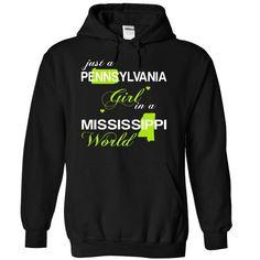 (PAJustXanhChuoi001) Just A Pennsylvania ୧ʕ ʔ୨ Girl In A Mississippi WorldIn a/an name worldt shirts, tee shirts