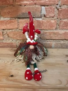 Needle Felted Gnome. Hand Felted Sitting Tomte. Christmas | Etsy Handmade Gifts, Handmade Items, Pumpkin Hat, Felt Gifts, Quirky Gifts, Unusual Gifts, Shoes Too Big, Unusual Animals, Soft Sculpture