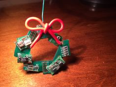 Circuit Board Ornament by SnazzyTabby on Etsy