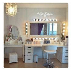 Vanity decor ideas popular of makeup room decor ideas about vanity room on vanities beauty room Vanity Room, Vanity Mirrors, Wall Mirror, Closet Vanity, Mirror Room, Mirror Collage, Vanity Bathroom, Mirror Set, Framed Wall