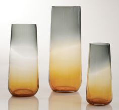 Amber Ombre Vases