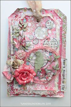 Live. Laugh. Love.: Mixed media tag 'spread your wings' for Lindy's Stamp gang challenge...with tutorial!