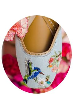 Flower Power: Payal Singhal X Fizzy Goblet Flower Pattern Design, Flower Patterns, Natural Leather, Tan Leather, Indian Shoes, Pretty Shoes, Loafers For Women, Vegetable Tanned Leather, Fashion Shoes