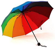 Colorful Rainbow Creative Fashion Light Folding Mini Sun Shade Parasols Rain Umbrella * Find out more details by clicking the image : Umbrella Racks