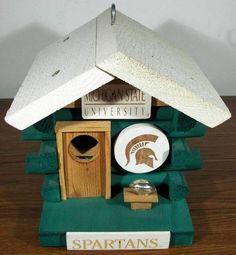 Michigan State University Spartans Football Bird House - Too Cute!