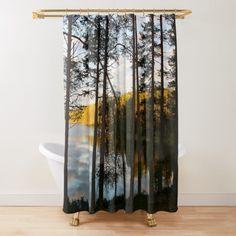 'Summer Magic ' Shower Curtain by Niina Niskanen Cozy House, Shower Curtains, Original Paintings, Photographs, Wall Art, Nature, Artwork, Prints, Home Decor