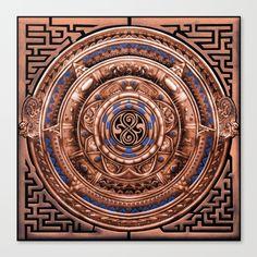 Aztec Tardis doctor who Sign logo Pendant Medallion Canvas Print @society6 #canvasprint #artprint #artdesign #aztec #medalion #symbol #dalek #drwho #tardis #bluephonebox #davidtennant