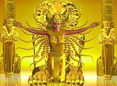 "Egypt - Golden Temple - 32"" x 44"" PANEL - DIGITAL PRINT"