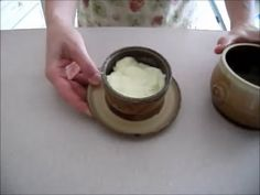 Pottery: How to use a FRENCH BUTTER dish. With Captions.
