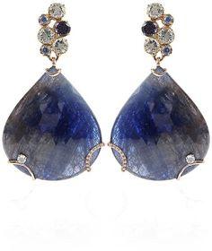 Federica Rettore Blue Sapphire Drop Earrings