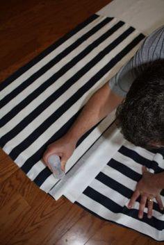 gluing fabric on plastic roller shade