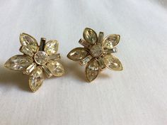 Ora Signed Rhinestone Earrings by FrouFrou4YouYou on Etsy