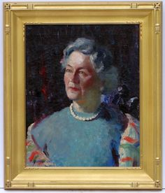 daea239f28b Michael Lemmermeyer American 20th C Portrait of A Women Oil on Canvas