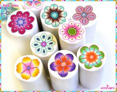 New Millefiori Flower Canes by Ronit Golan