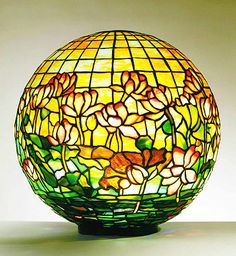 Tiffany sphere stained glass. How beautiful this would be with the Bright Sun shining on and thru it!